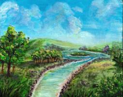 Landscape Painting Practice by Kasaurus