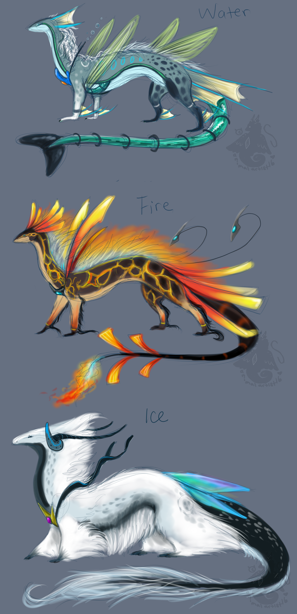Elemental Dragon Adopts 2 -Closed- by animalartist16