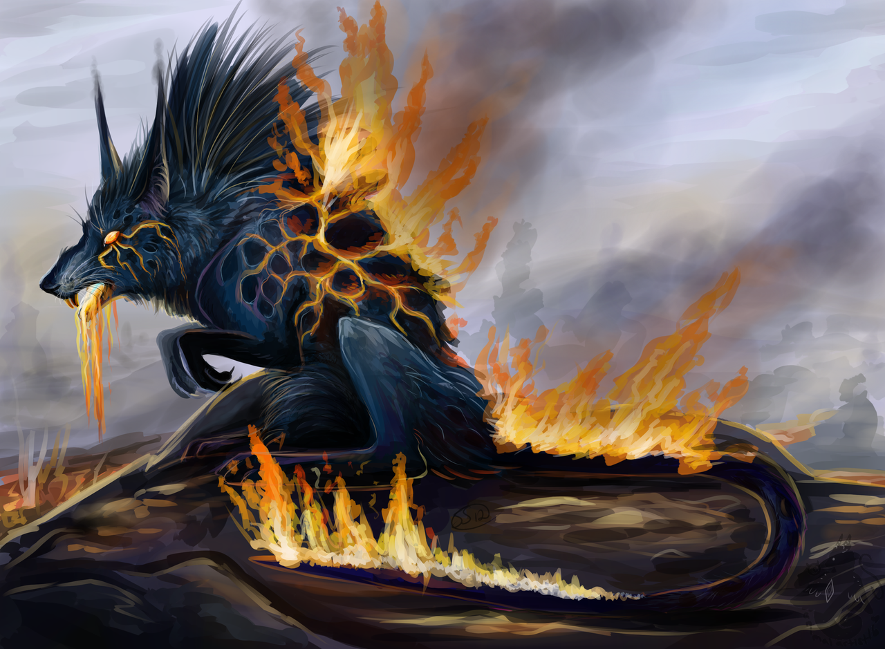 Lava Rat by animalartist16