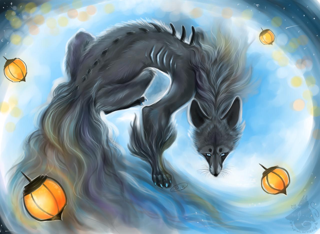 Kitsune of Smoke by animalartist16