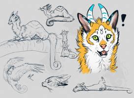 Kaseiko Sketch Page by Kasaurus