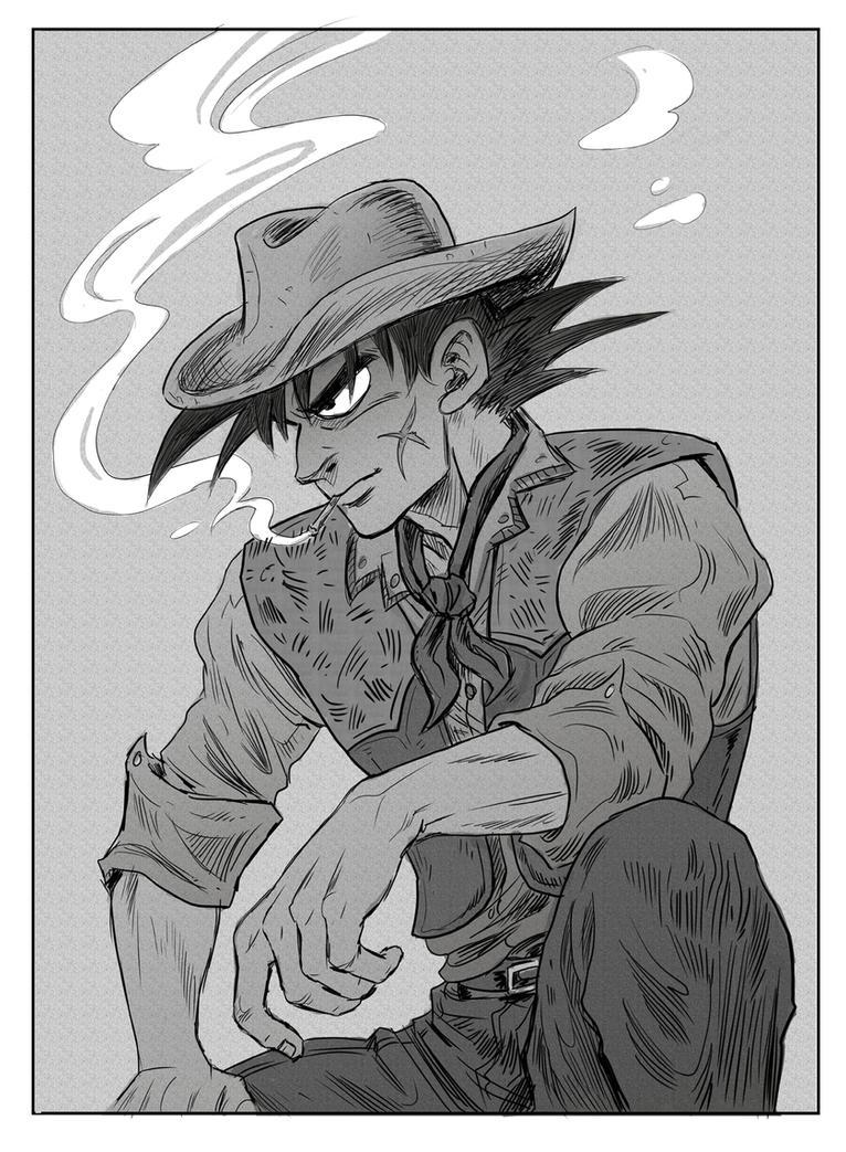 Cowboy Bardock by betaruga