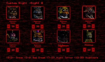 Five Nights at Freddys 4- Custom Night by sonicblast43o9