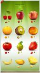 Paradise Fruit Icon Set