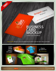 Free Business card mock up by artbees