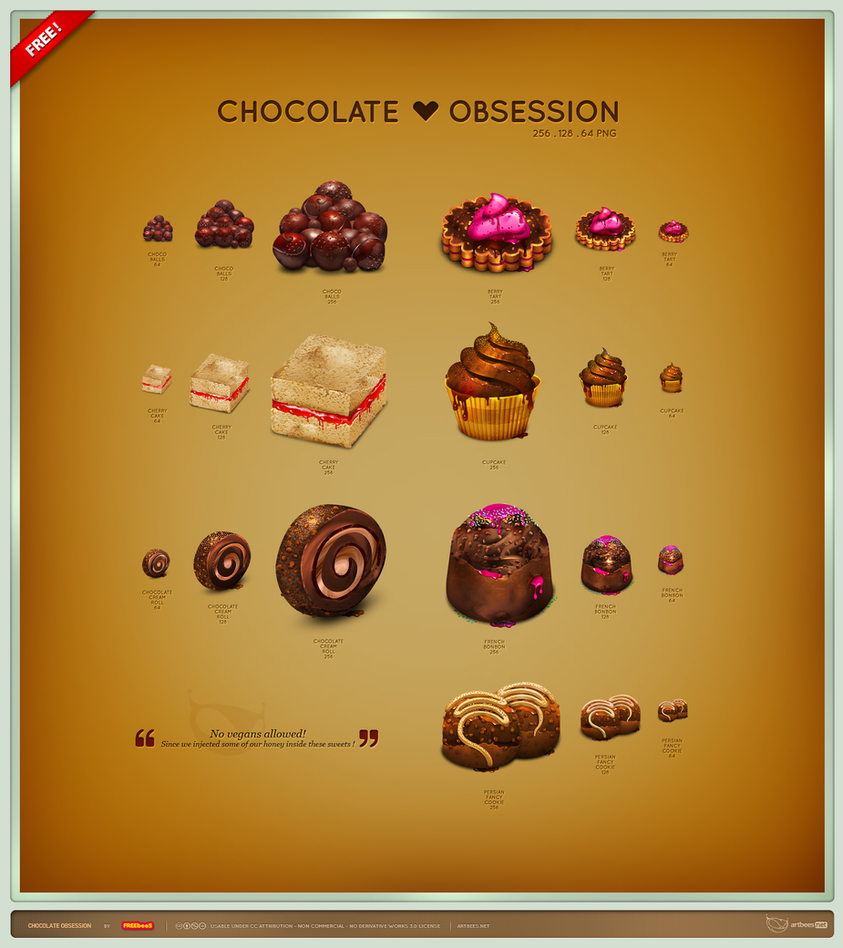 Chocolate Obsession Icon Set by artbees