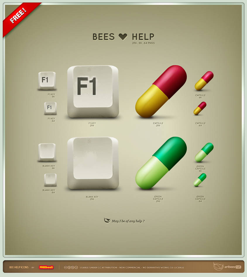 Bees Help Icons