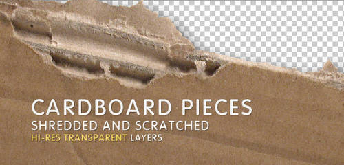 2 Hi-Res Cardboard Pieces by artbees