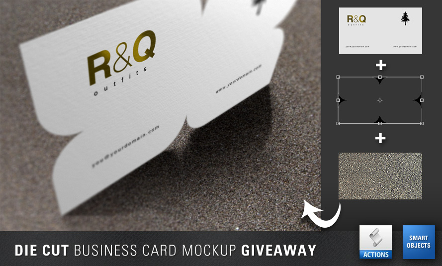 Die cut business card mockup giveaway by artbees on deviantart die cut business card mockup giveaway by artbees reheart Image collections