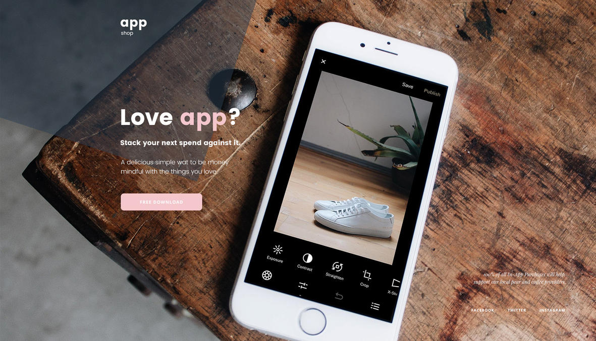 Free App Template Webpage by artbees