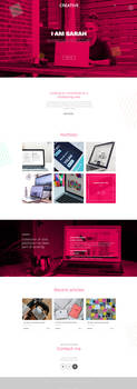Creative PSD template by artbees