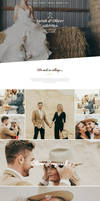 Free Wedding PSD Webpage Template