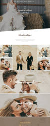 Free Wedding PSD Webpage Template by artbees