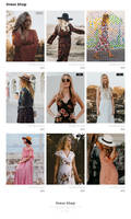 Dress Shop PSD Free Template Giveaway