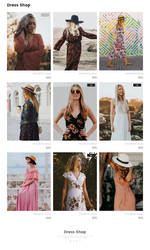 Dress Shop PSD Free Template Giveaway by artbees