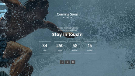 Free Coming Soon Webpage Template