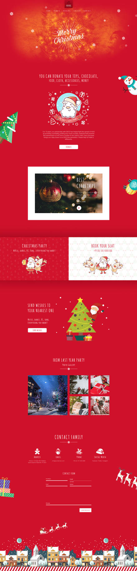 Free Holiday Template by artbees