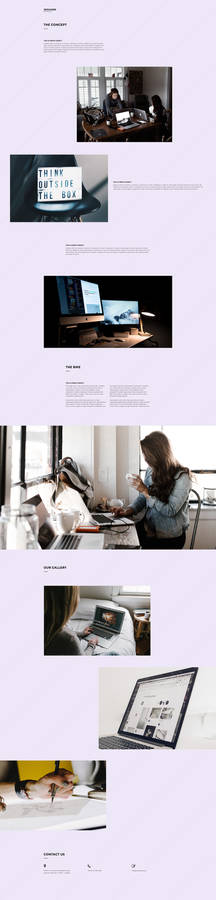 Free Designer Template Webpage