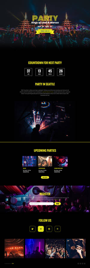 Free Party Website Template