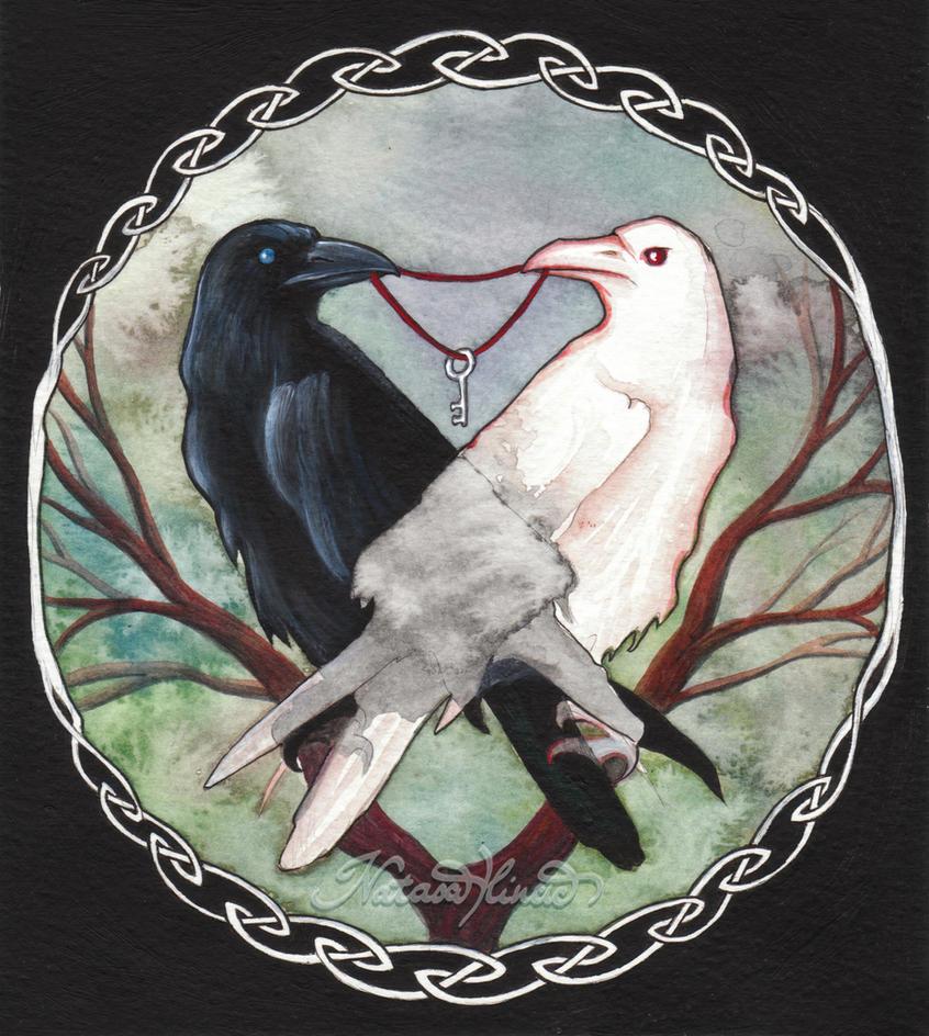 huginn and muninn ravens of knowledge norse pantheon