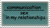 Communication instead of sex by Squirrelflighty