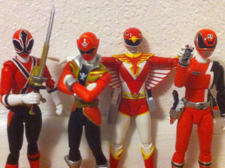40 super sentai red warriors