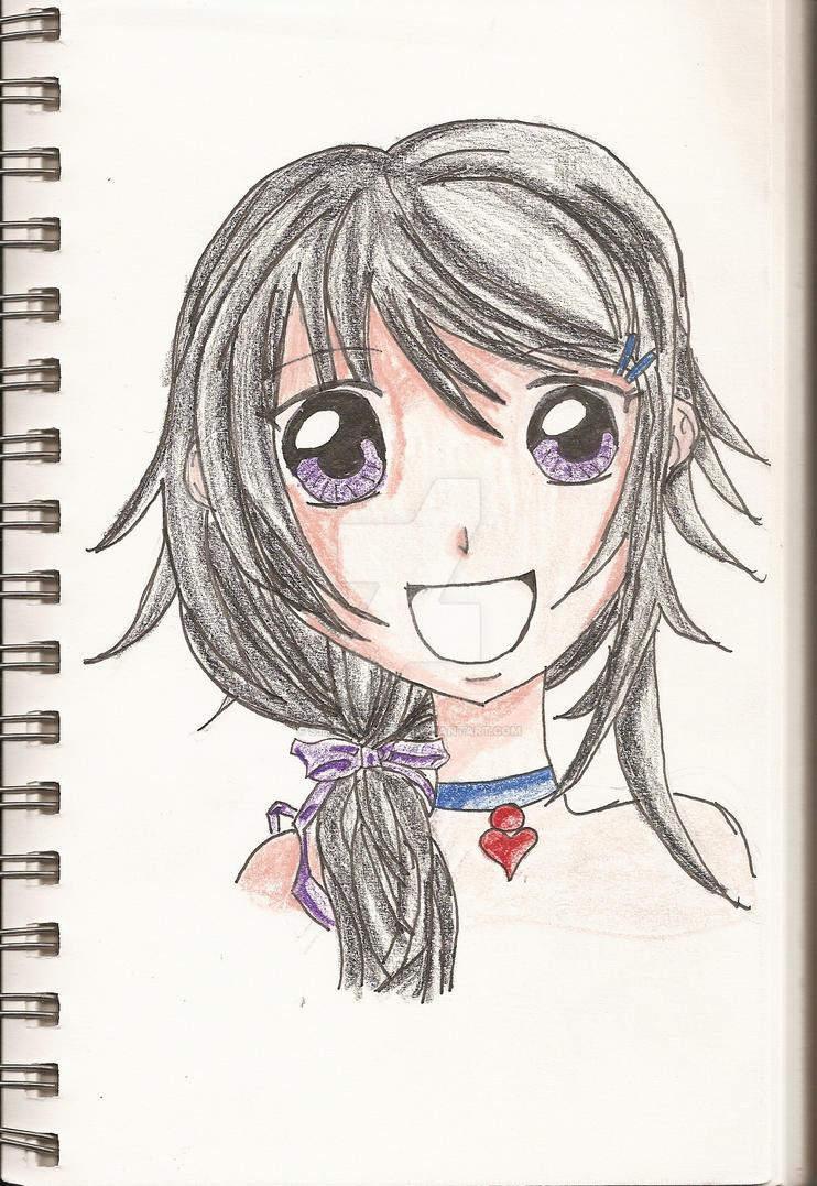 Shojo Girl Colored by StarRacerEva