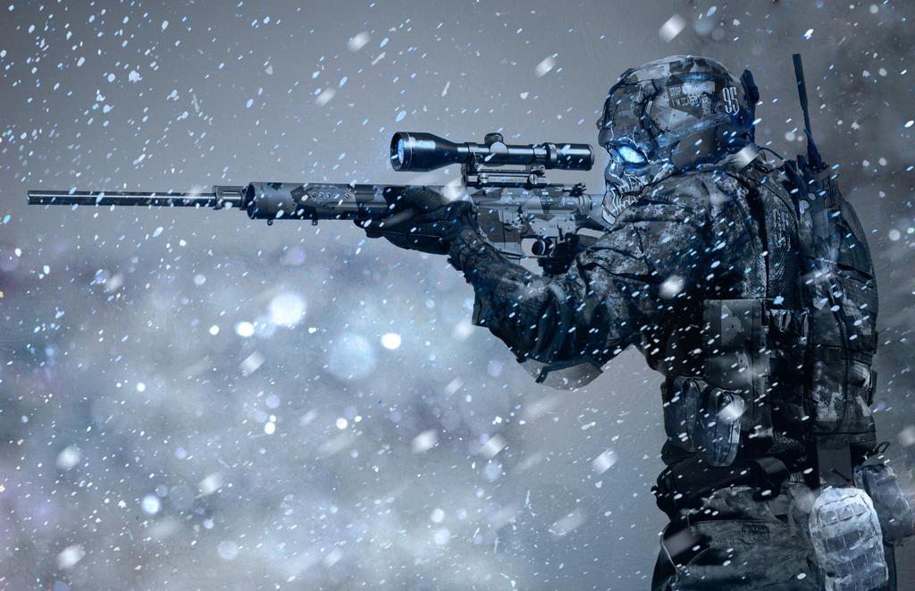 Arctic sniper by OlegDaniel