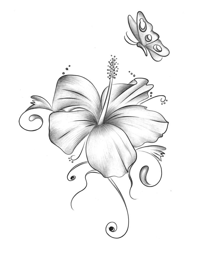 hibiskus tattoo by xxmoonlight shadowxx on deviantart. Black Bedroom Furniture Sets. Home Design Ideas