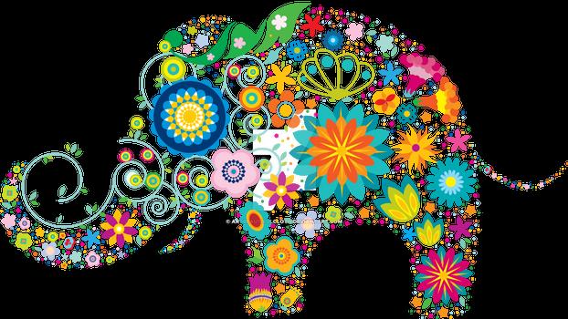 Beautiful colorful Elephant