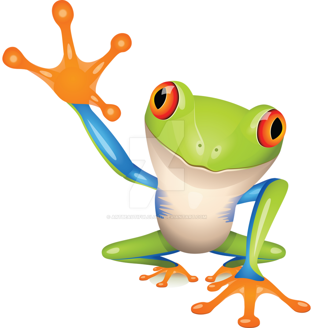 Colorful Frog by artbeautifulcloth on DeviantArt