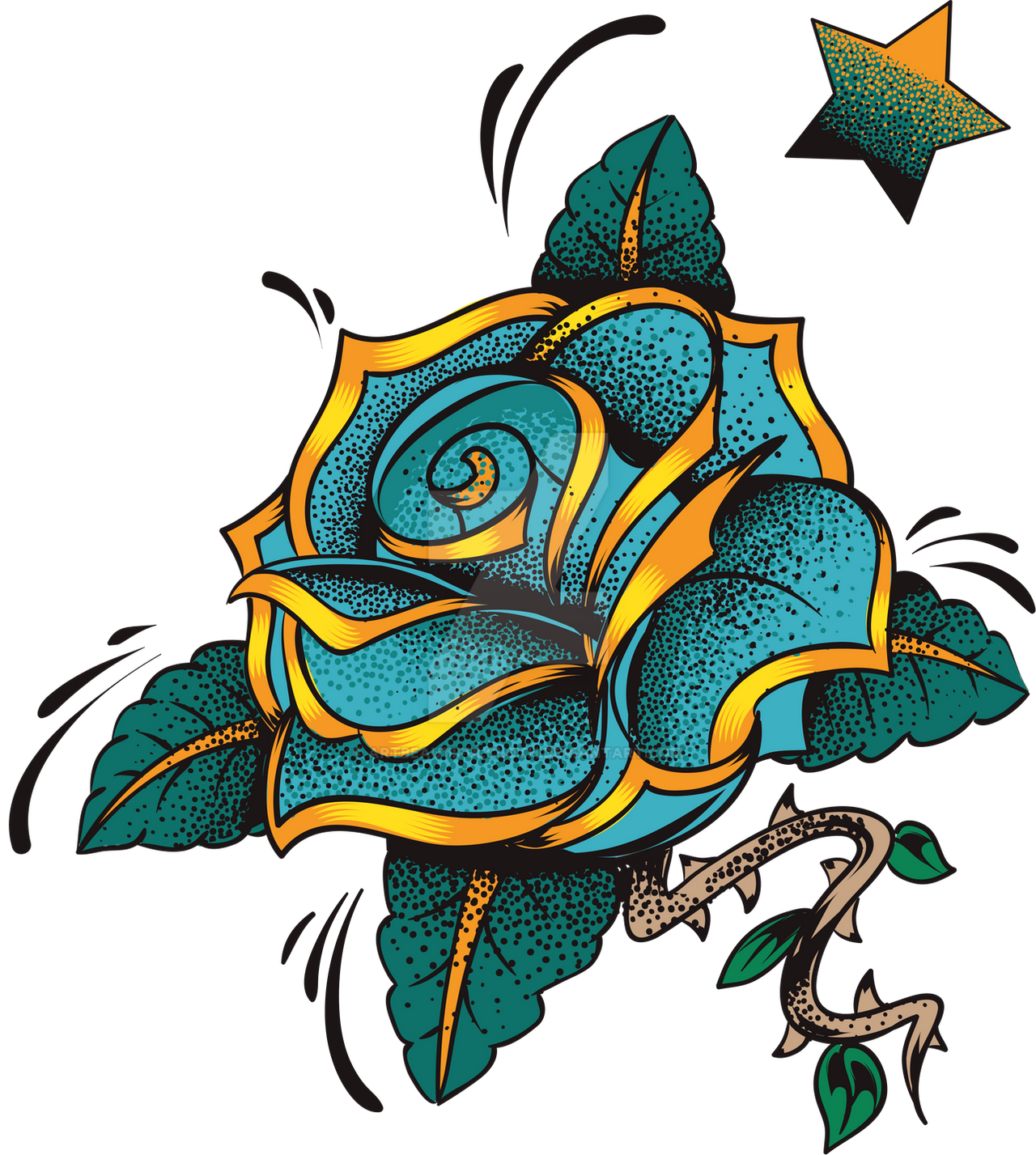 Blue Rose by artbeautifulcloth on DeviantArt