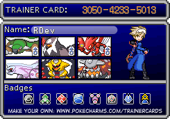 My Pokemon Card by RisinDevil