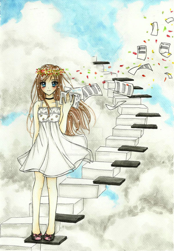 Stairs to Melody by hey-its-Japz