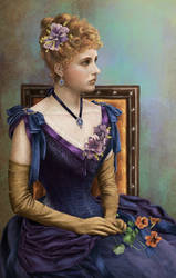 Lady With Nasturtium