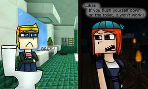 Lukas On The Toilet (MC:SM) by BlueGirlPrincess