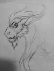 The Dark Draconequus by JenOfAllTradesFanart