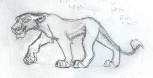 Zira - Rough Sketch by JenOfAllTradesFanart