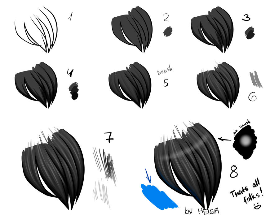 New Tutorial Hair By Konataidzumi On Deviantart