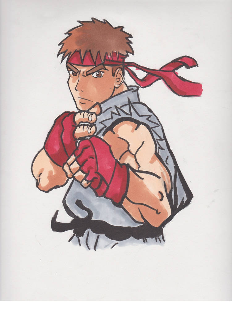 Quick Ryu Drawing By Nerdydrawings12 On Deviantart