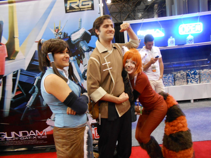 NYCC12: Korra Bolin and Pabu by momo-chan59