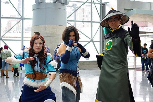 NYCC2014: Master Katara, Avatar Korra, and Dai Li by momo-chan59