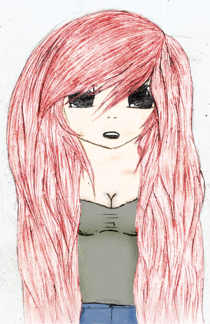 Anime girl long hair(color) by Landon783