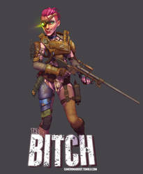 The Bitch - Fallout 4 by CameronAugust
