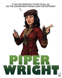 Piper Wright - Fallout 4 by CameronAugust