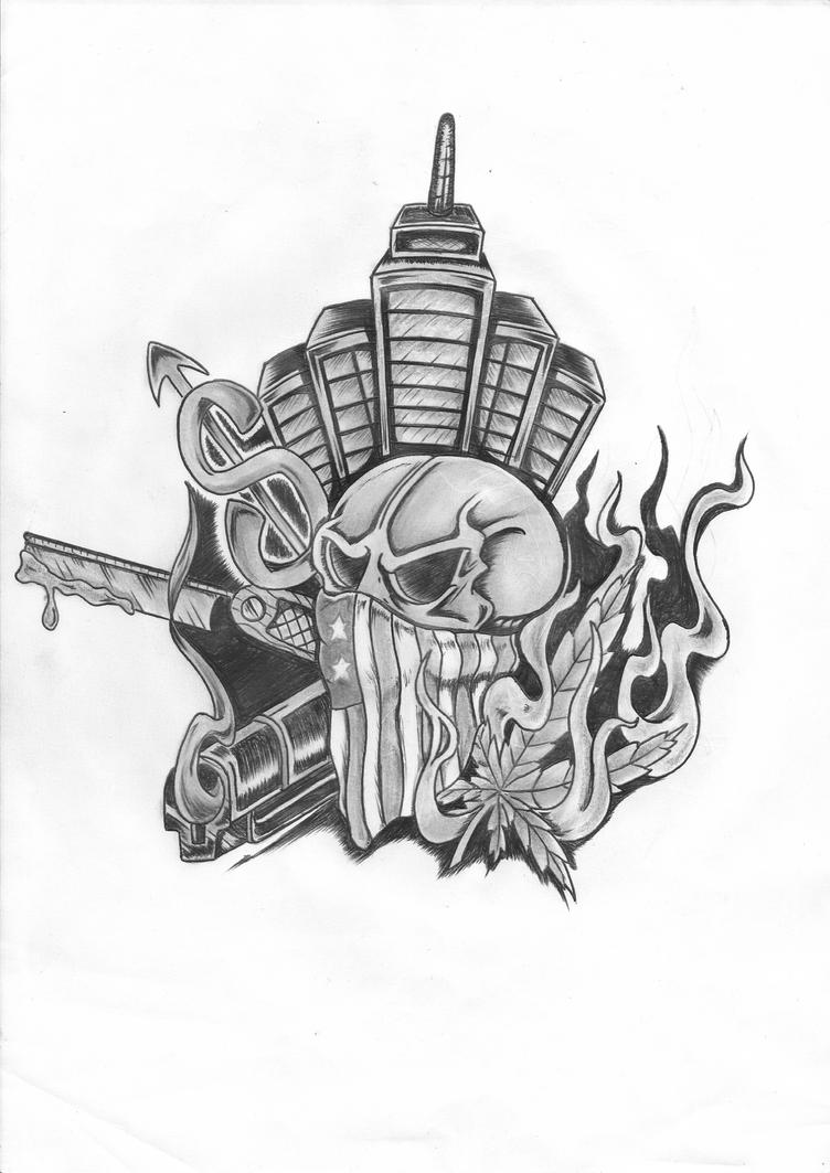 Gangster Tattoos Designs Intended For Thug Tattoo