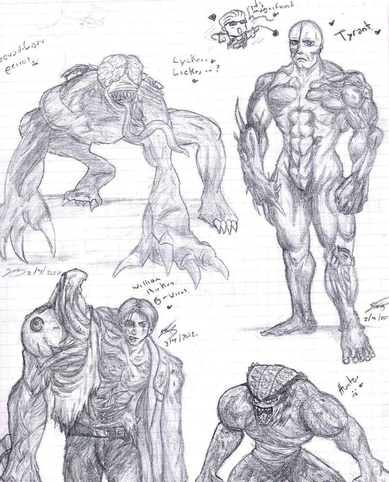 Resident Evil Monsters by MiniMouw on DeviantArt