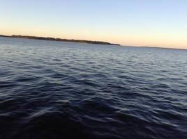 early morning coastline
