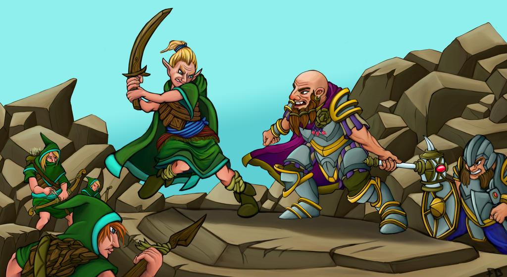 Dwarf Fortress: Elves VS Dwarves