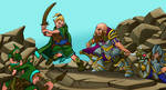 Dwarf Fortress: Elves VS Dwarves by DreadHaven